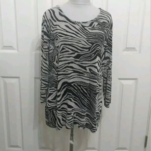 Chico's Travelers 3 XL black beige slinky top